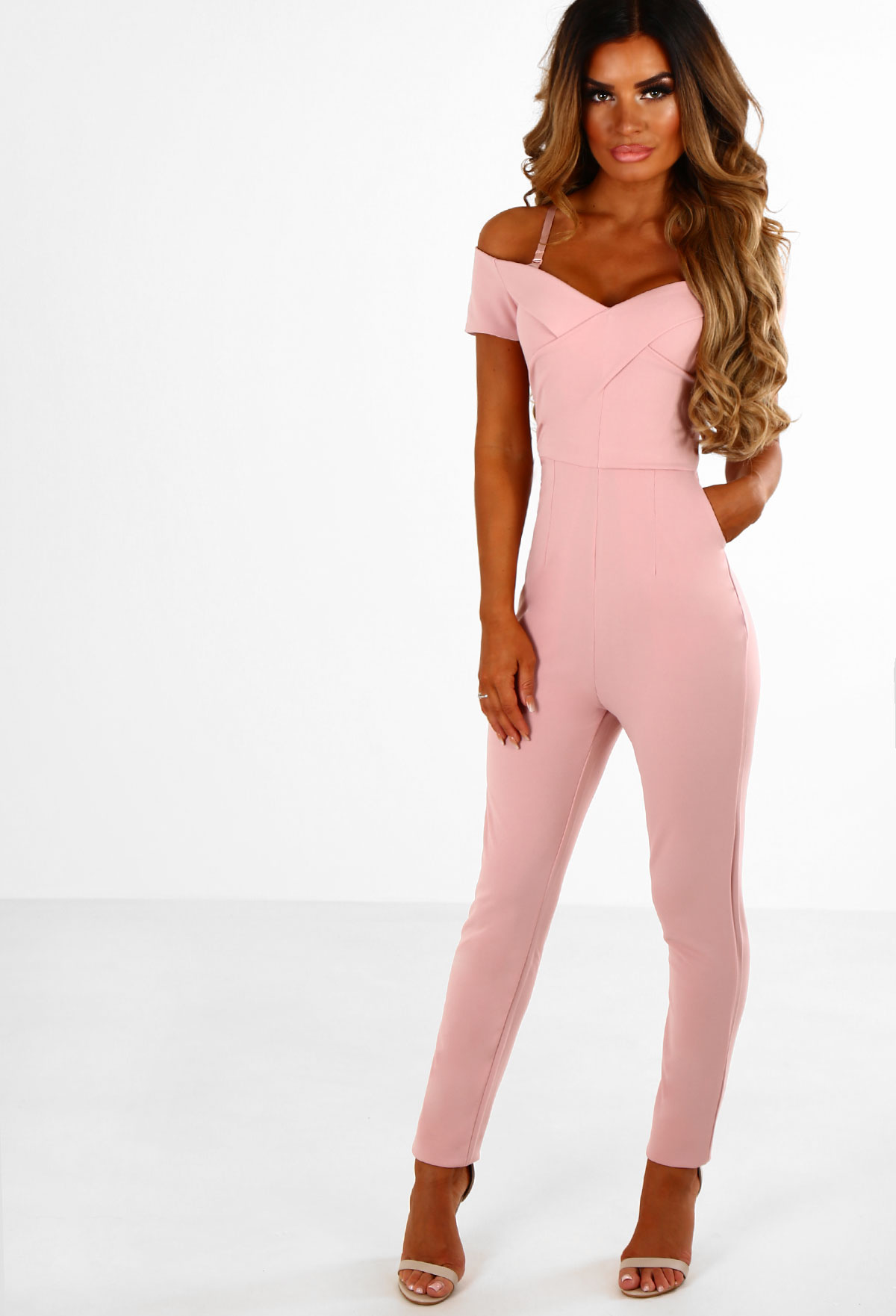 pink jumpsuit aileen pink bardot jumpsuit | pink boutique ggjitcz