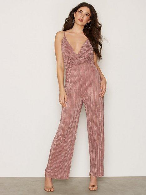 pink jumpsuit plisse wrap jumpsuit bhbdtkc
