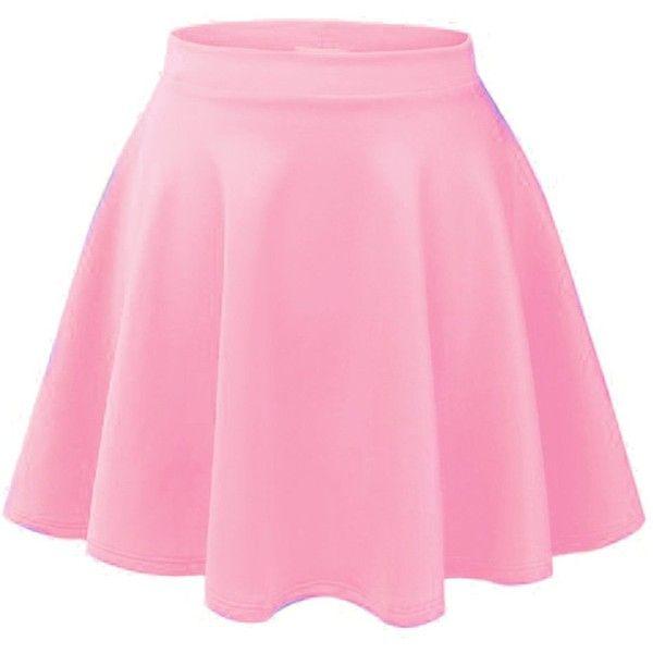 pink skirt acevog womenu0027s stretch waist flared skater skirt dress mini  skirt inhrgja