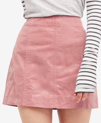 pink skirt free people modern femme faux-leather mini skirt qpkffpl