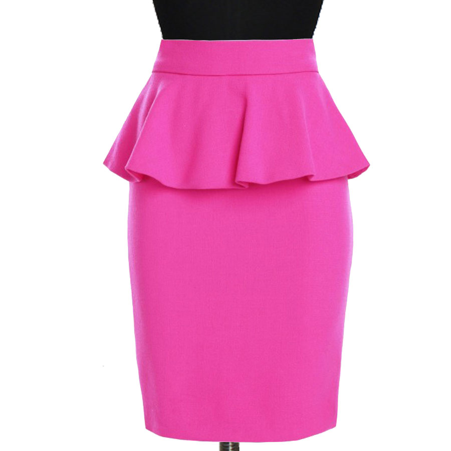 pink skirt plus size pink peplum pencil skirt pgyitfl