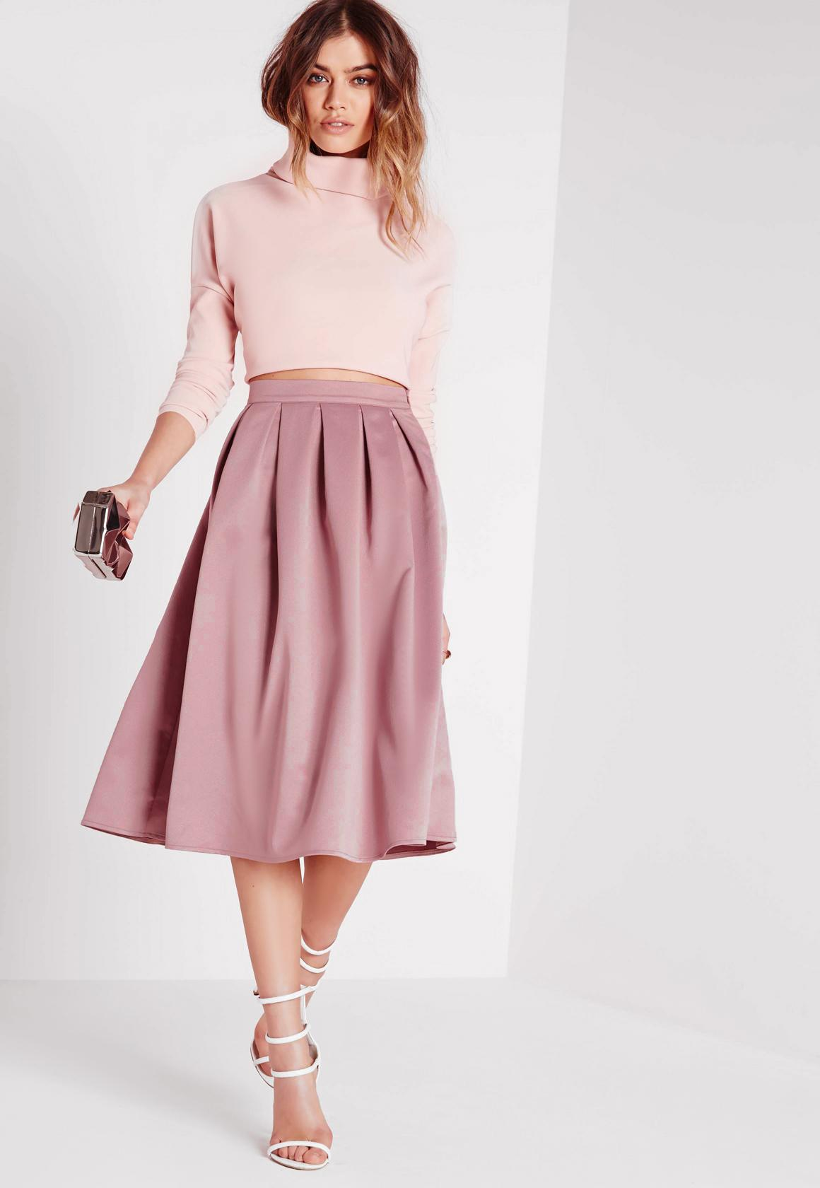 Get a pink skirt for your wardrobe