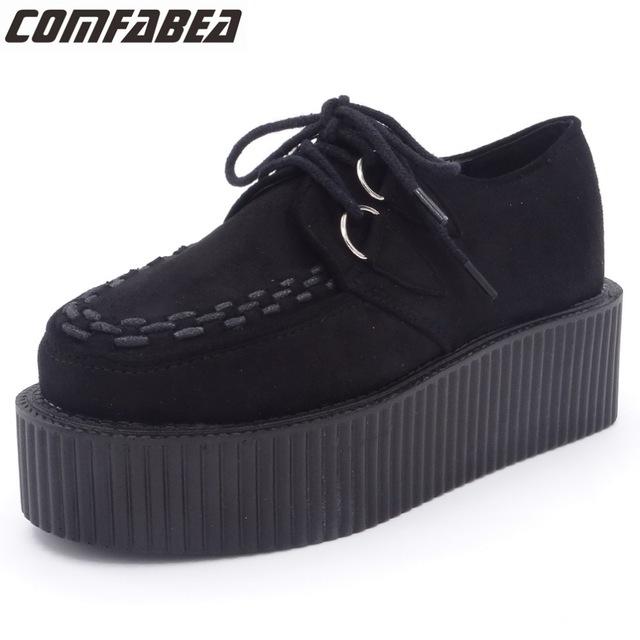 platform shoes for women autumn winter shoes women platform shoes ladies lace up casual shoe  creepers ostevbw