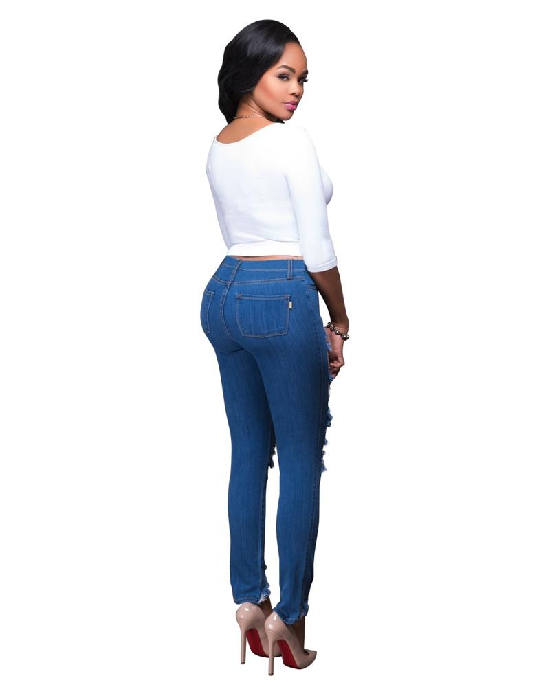 plus size boyfriend jeans aliexpress.com : buy blue fashion ripped jeans women plus size boyfriend  jeans kwubnzn