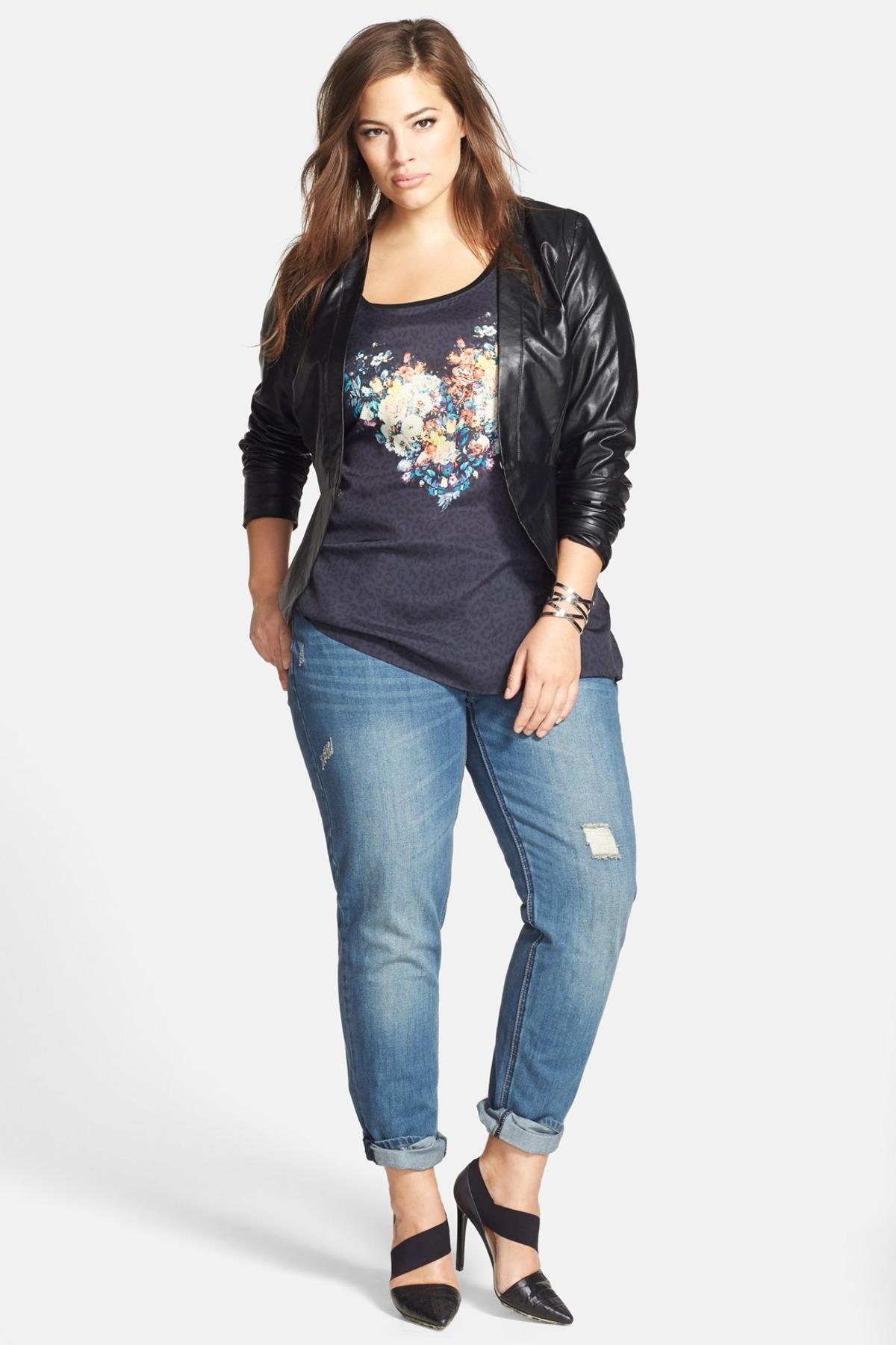 plus size boyfriend jeans image of city chic distressed boyfriend jeans (plus size) pnargbs