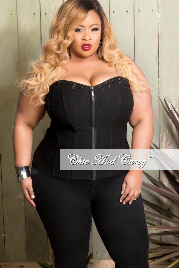 plus size corsets final sale plus size corset top in black with lace-ups with silver grommets eycgkup