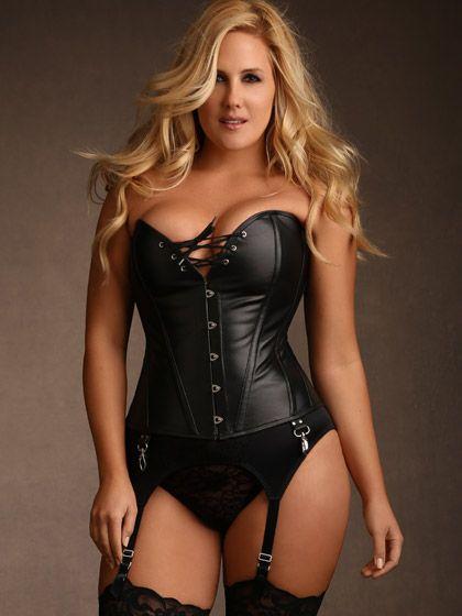 plus size corsets ... plus size jules steel boned leather corset, black ... vjifcnq