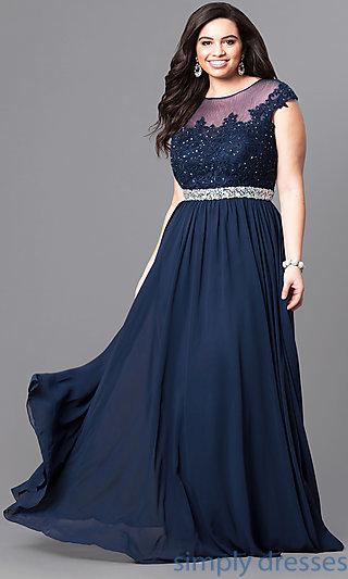 plus size formal dresses cap sleeve plus-size long formal dress with lace . tvlbjip
