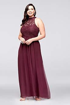 plus size formal dresses long a-line halter prom dress - speechless uhdblyi