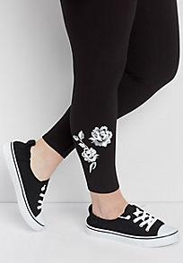plus size leggings plus size legging with floral embellishments rntoyqk
