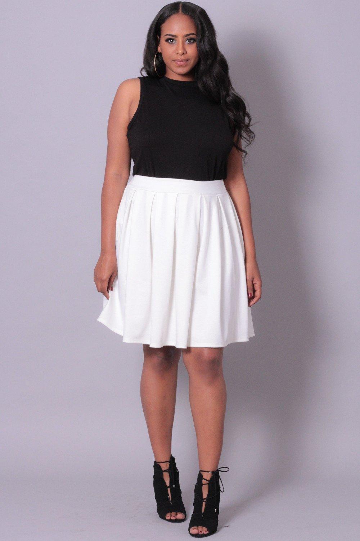 plus size skirts curvy sense   plus size clothing -plus_size_womens- plus size pleated skirt  - nmqverw