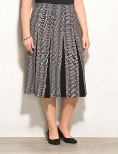 plus size skirts rozu0026ali plus size herringbone flare skirt xtbepbe