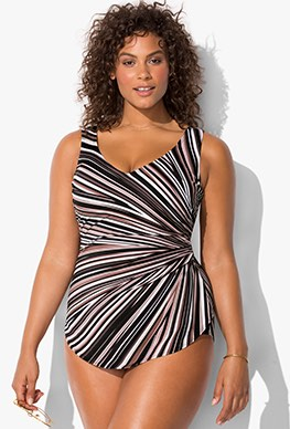 plus size swimsuits plus size - prism sarong front swimsuit ylzehfc
