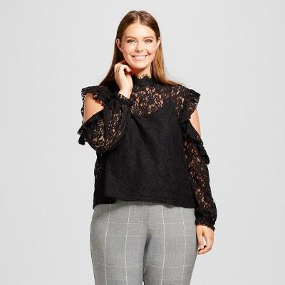 plus size tops new arrivals · tunics · shoulder details · statement sleeves · florals · gqxjqbn