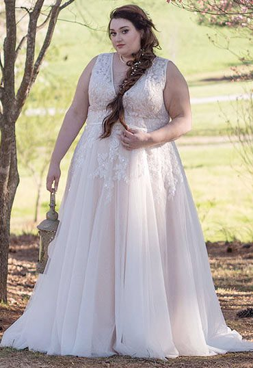 plus size wedding dress a-line silhouette evkbqpt