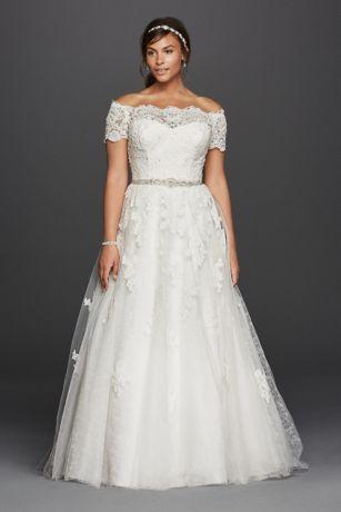 plus size wedding dress long a-line romantic wedding dress - jewel meruvwh