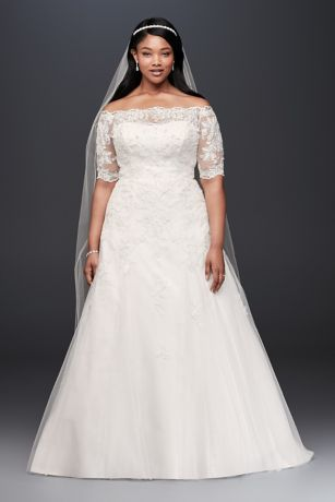 plus size wedding dress long a-line romantic wedding dress - jewel qndkszv