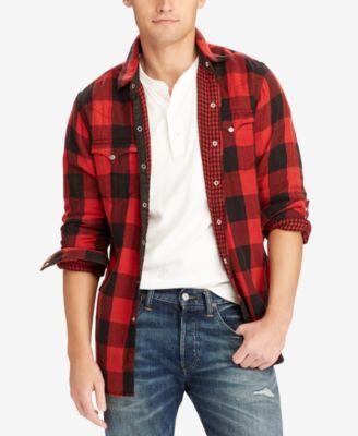 polo ralph lauren menu0027s iconic flannel shirt ffaeflo