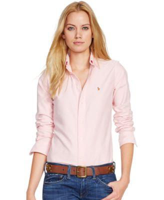 polo ralph lauren slim fit long-sleeve oxford shirt keggkos