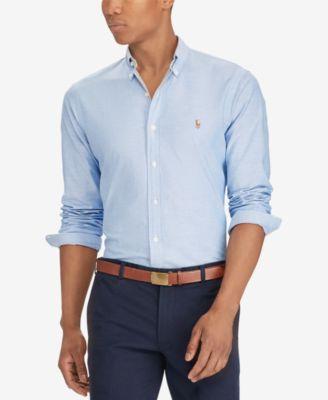 polo ralph lauren slim-fit stretch-oxford shirt wxwikyg