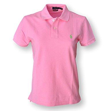 polo shirts for women polo ralph lauren womens classic fit mesh polo shirt (x-small, hrtg pink wptzgdh