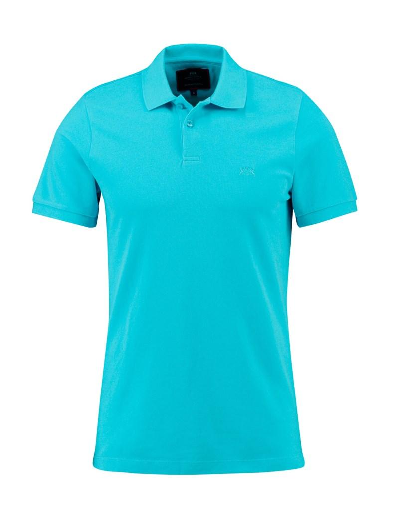 polo shirts menu0027s turquoise slim fit polo shirt - short sleeve mwoxubn