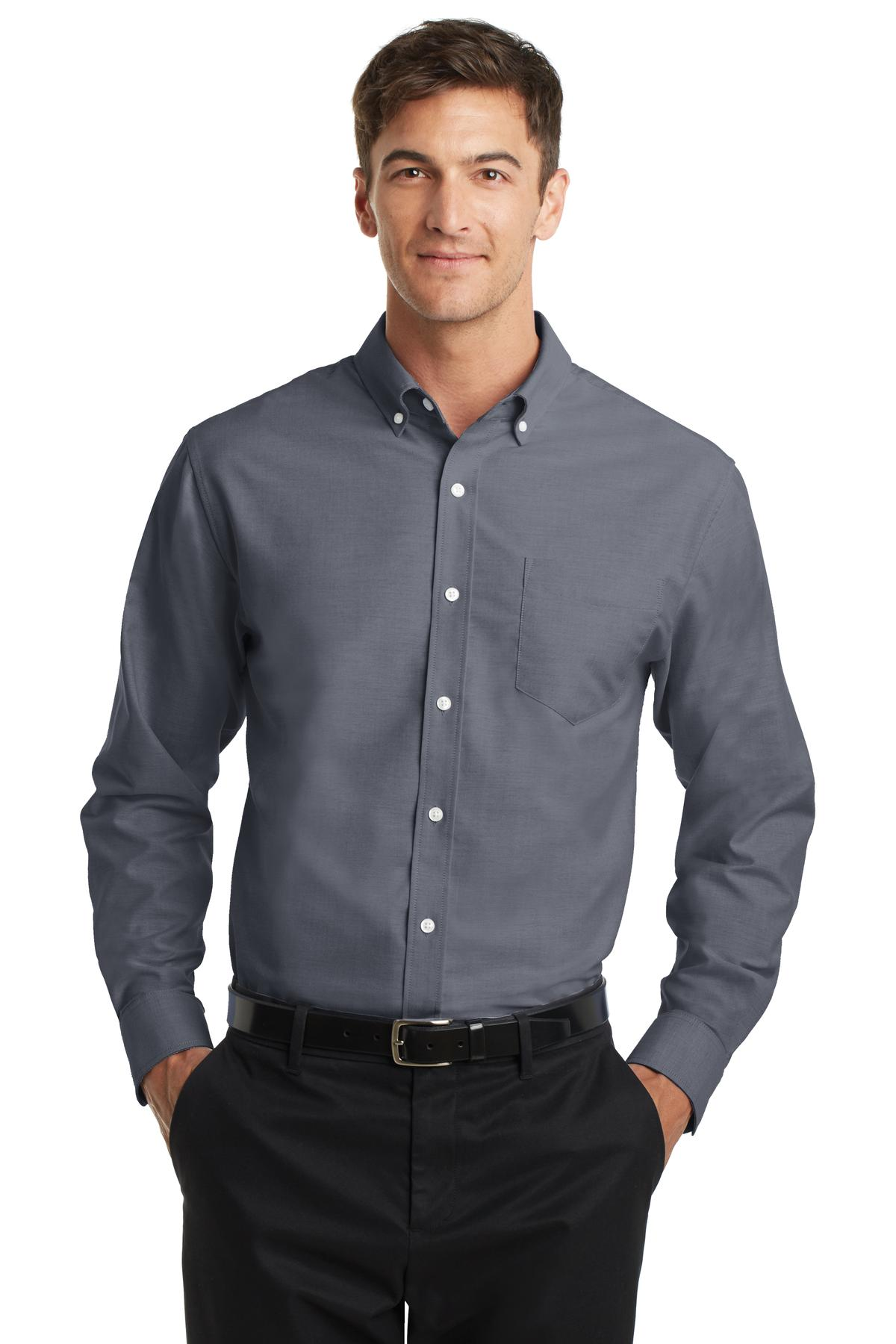 port authority® s658 - superpro oxford shirt ayoygda