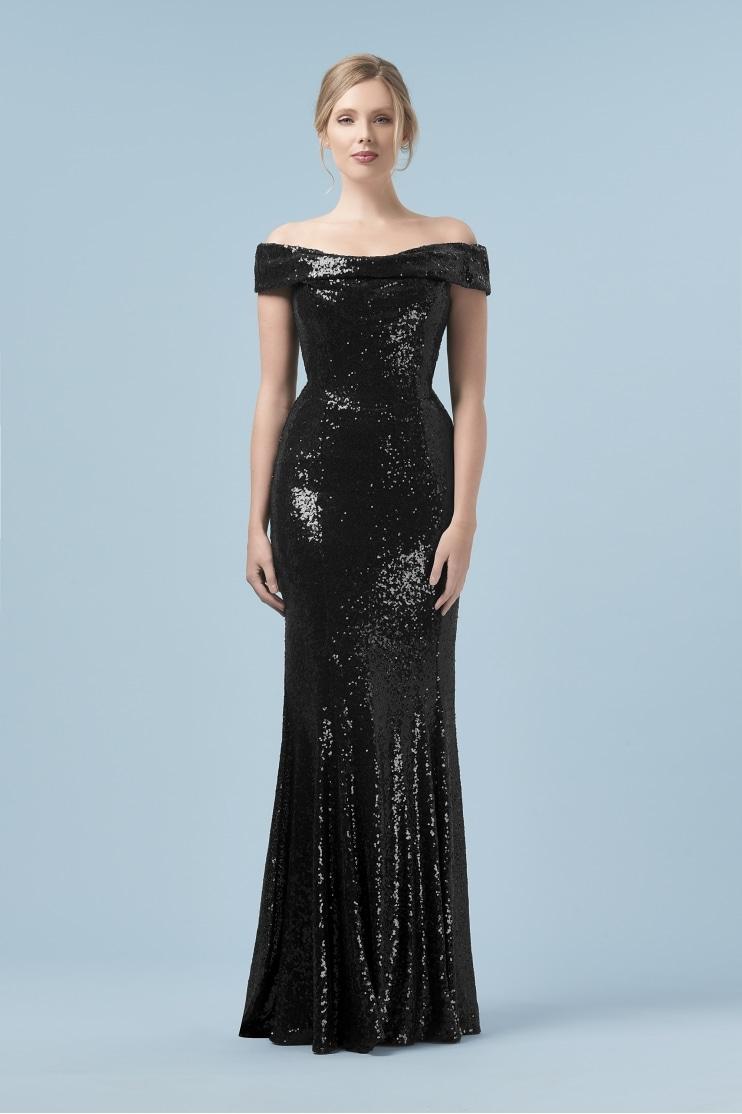 pretty dresses thea black sequin gown nwaeqth