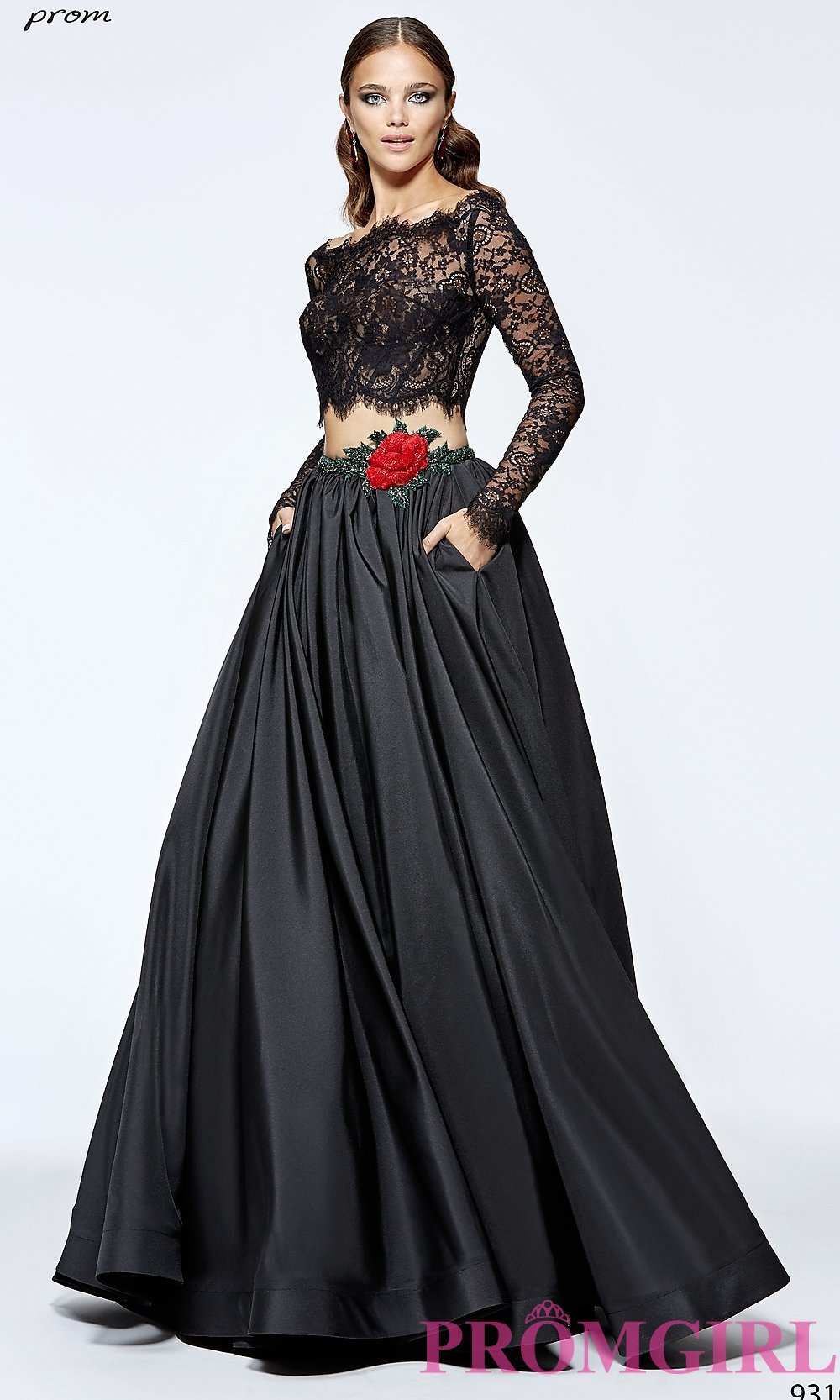prom dresses with sleeves hover to zoom arjcdga