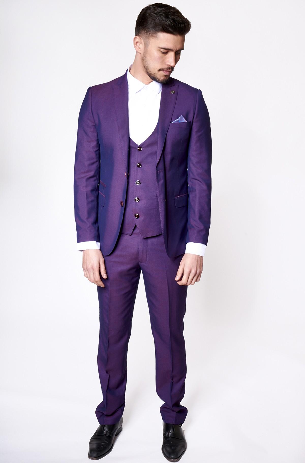 purple suit belmont - purple notch lapel three piece suit mqfvmoe
