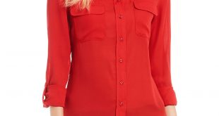 red blouse red womenu0027s casual u0026 dressy tops u0026 blouses | dillards syvkcit