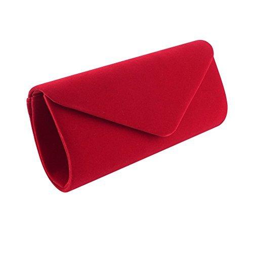 red clutch bag clorislove womenu0027s retro velvet envelope evening clutch bag party prom  handbag (red) dwglhai