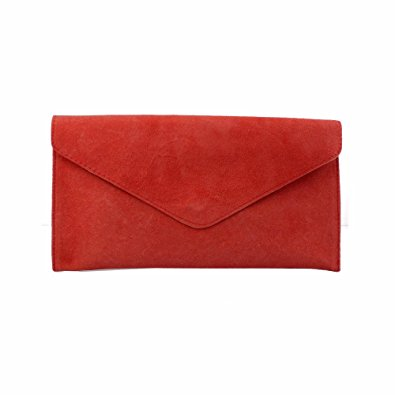 red clutch bag ladies/womens red suede envelope evening clutch bag brymzsn