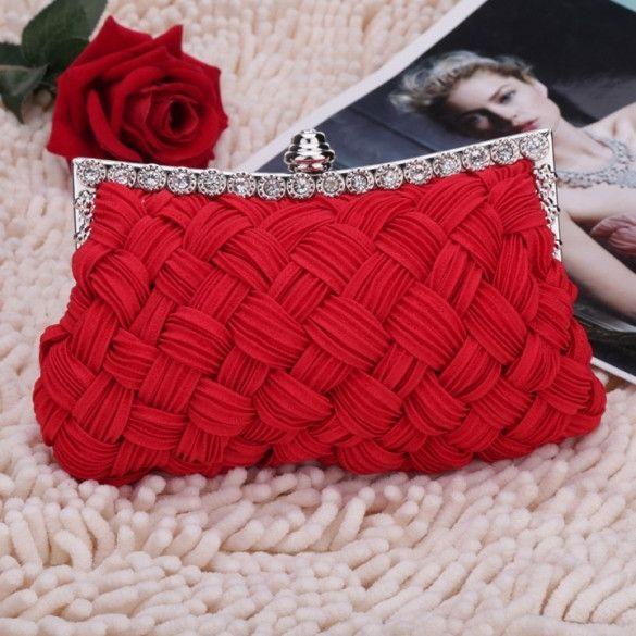 red clutch bag new fashion womenu0027s evening bag shining rhinestone handbag shoulder bag  clutch bag pagmlay