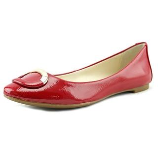 red flats alfani gwennevah round toe patent leather flats rckgtqw