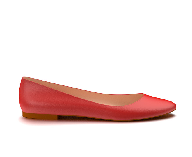 red flats ballet flat made from red soft leather jzfajup