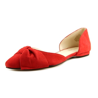 red flats nine west stefany pointed toe suede flats awwofsj
