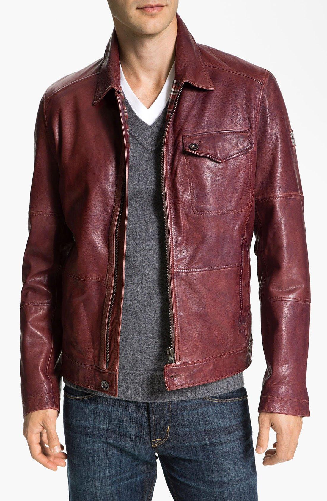 red leather jacket hugo-dark-red-javis-leather-jacket-product-2- qiajitb