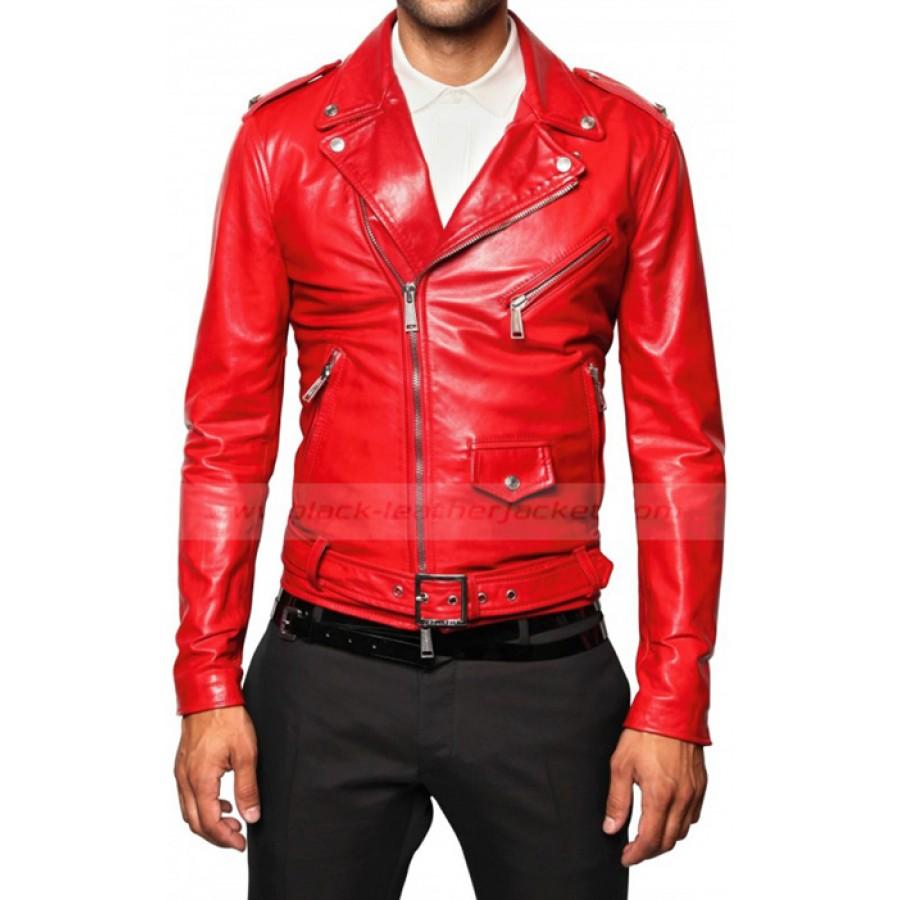red leather jacket mens red leather biker jacket xmqifpa