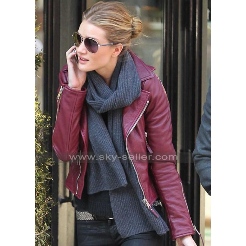 red leather jacket rosie huntington red biker leather jacket pwafapx