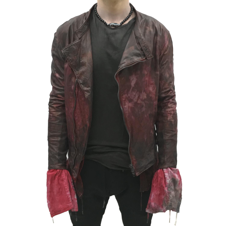 red leather jacket top gbeskea