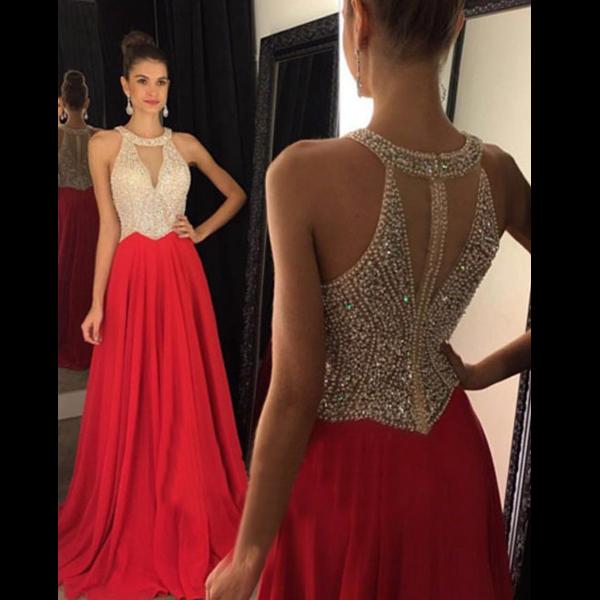 red prom dresses, halter prom dresses, sexy prom dresses, custom prom  dresses, kzthsyv