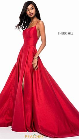 red prom dresses sherri hill 52022 tccwkyv
