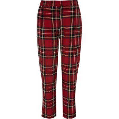 red tartan trousers nxmrksj