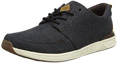reef shoes reef menu0027s rover low tx black/gum sneaker 8 d ... sekmjyx