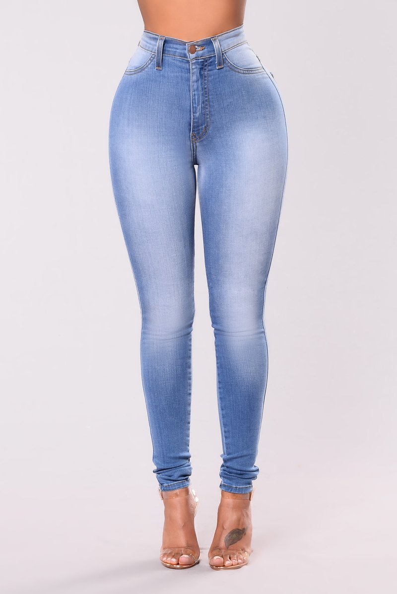 ripped jeans for women classic high waist skinny jeans - light blue cxuyunm