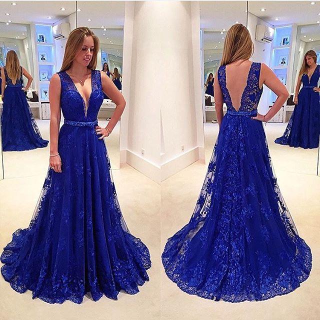 royal blue prom dresses new arrival deep v neck royal blue lace prom dresses,off the shoulder back vngptjn