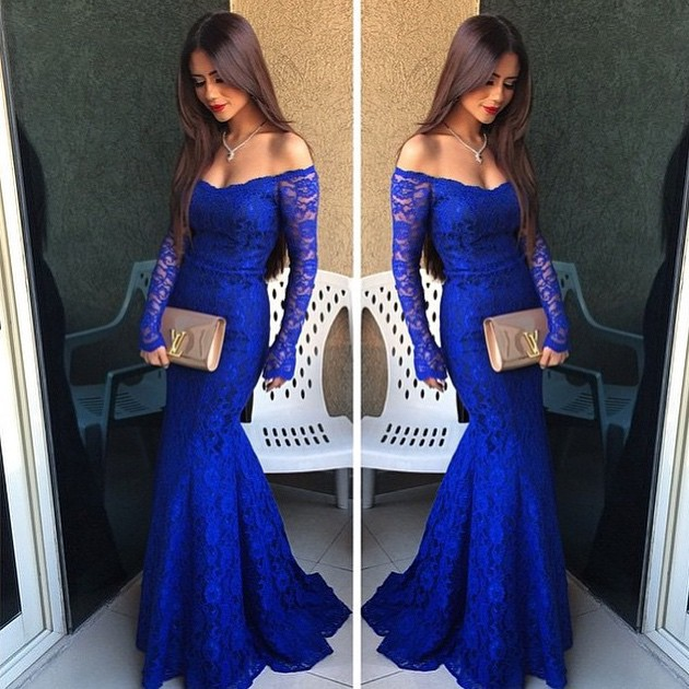 royal blue prom dresses royal blue lace prom dress, simple off-the-shoulder prom dresses with long qsfupmy