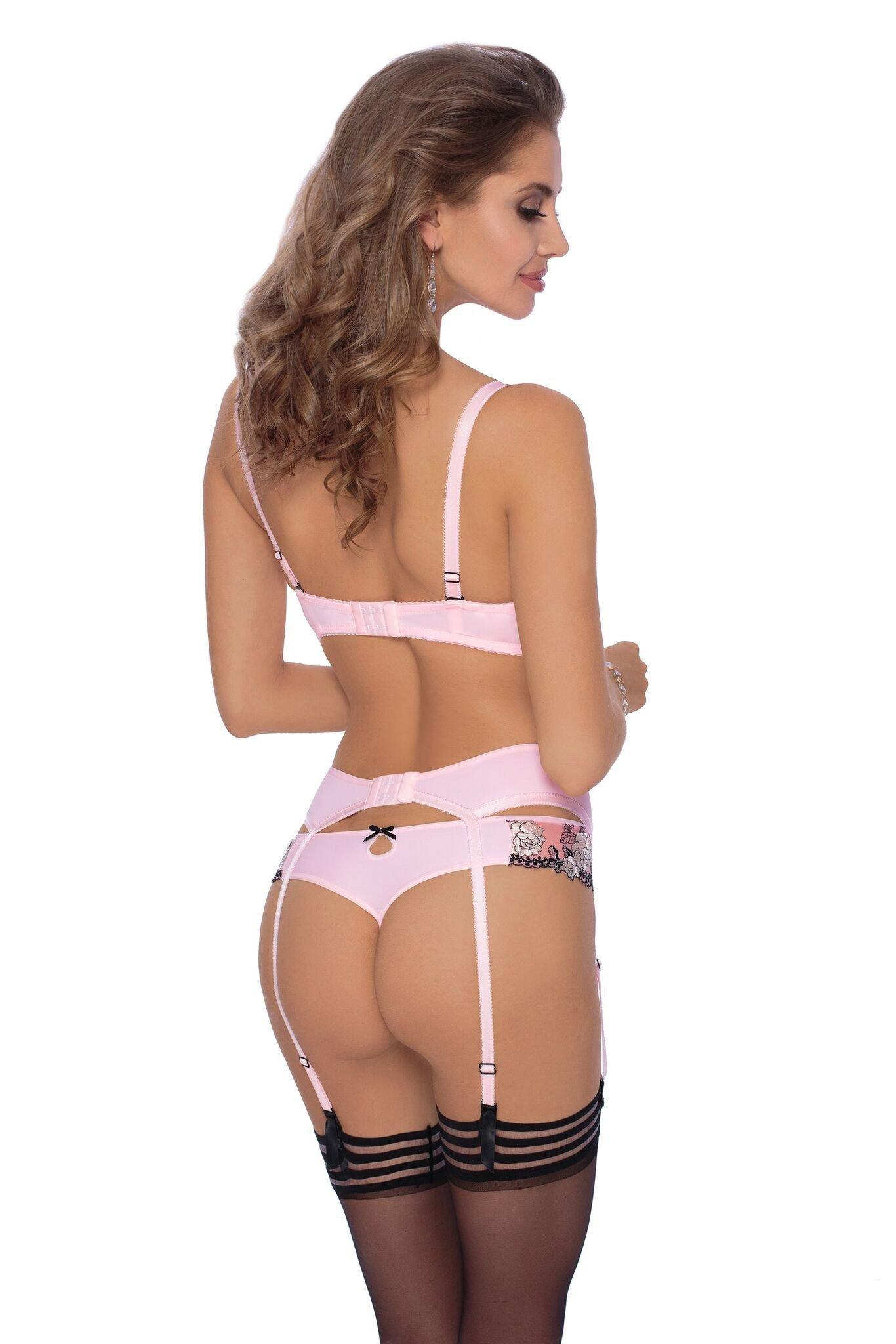 roza natali suspender belt (pink) - suspender belts - roza - charm and zzbhtpj