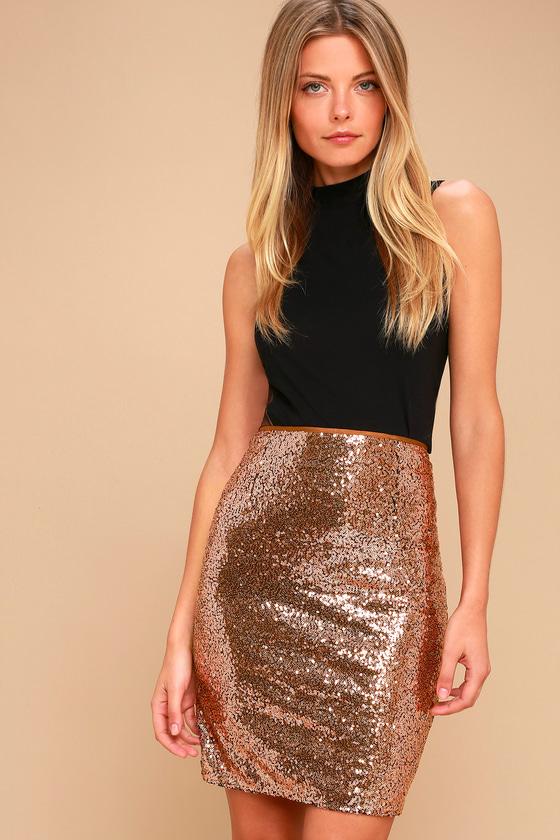 sequin skirt dancing u0027til daylight copper sequin bodycon skirt 3 fekcsgw